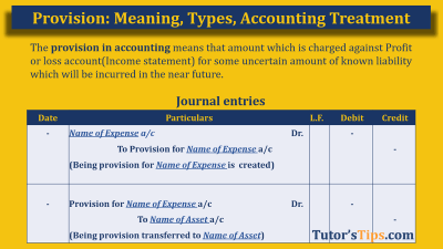 Provision in Accounting - Feature Image
