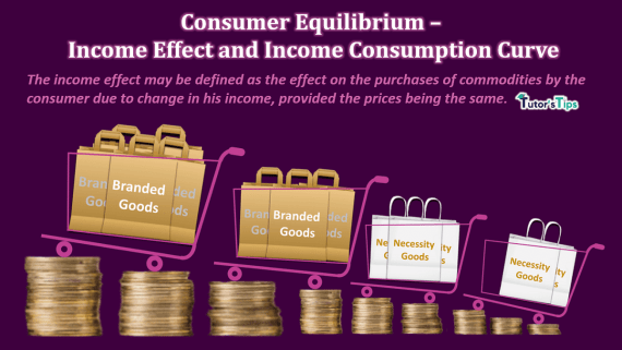 Consumer Equilibrium - Income Effect and Income Consumption Curve