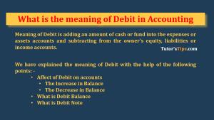 Meaning of Debit
