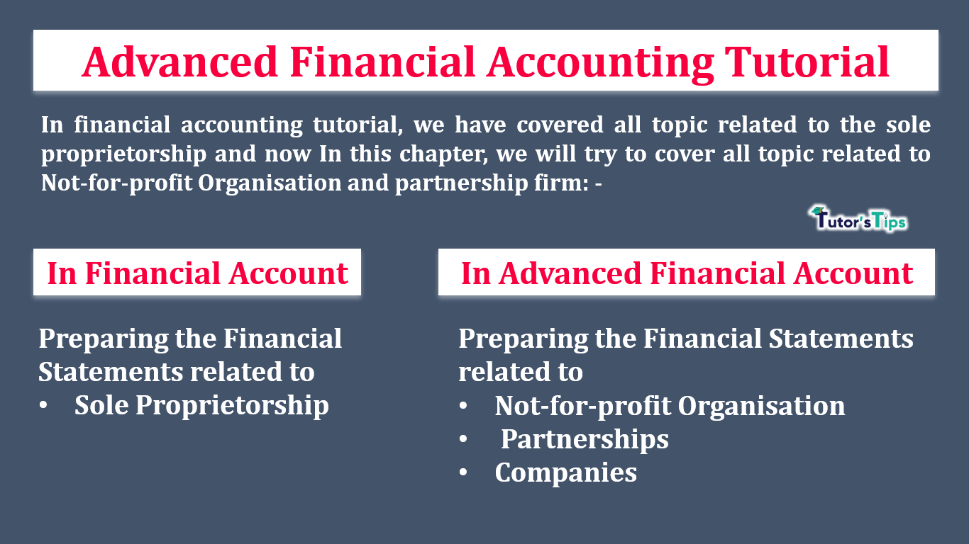 Advanced Financial Accounting Tutorial