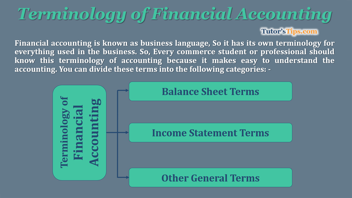Terminologies of Financial Accounting