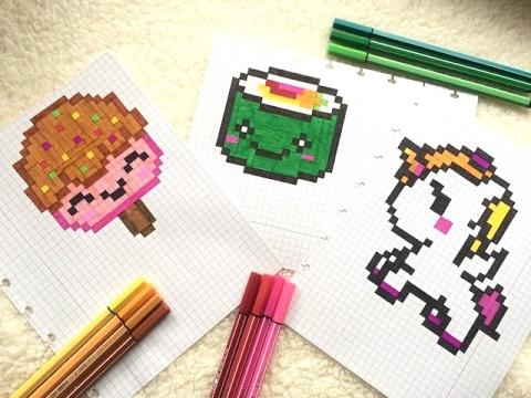 Pixel Art Sushi Sorbet Licorne Kawaii Tutotube Fr Le