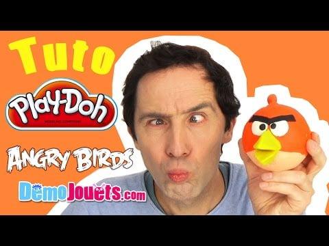 (TUTO) Play Doh Angry Birds Red Tutorial pâte à modeler – Démo Jouets