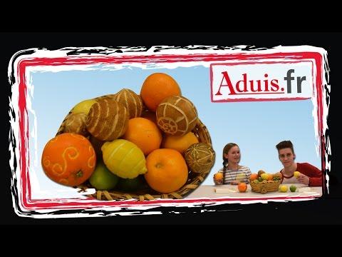 Découpes linoléum sculptures de fruits DIY