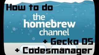 How to do Hombrew + Gecko OS + Codesmanger on your Wii – Tutorial [German] [HD]