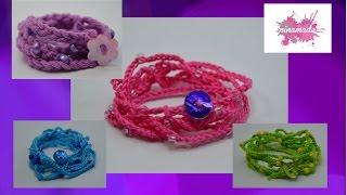DIY. Comment faire un bracelet avec du fil et des perles // How to make a thread and pearl bracelet.