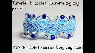 Tutoriel: bracelet macramé zig zag perlé (DIY: Bracelet macramé zig zag pearl)