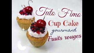 // Tuo fimo : cupcake fruit rouge \\