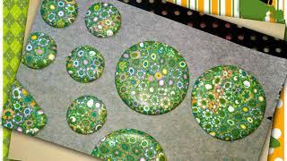 tuto fimo tapis fleuri millefiori vert