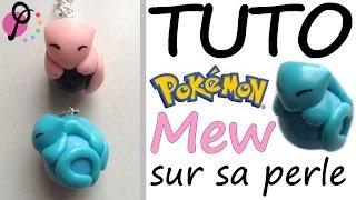 Tutoriel Fimo – Pokémon Mew sur sa perle [PimPomPerles.fr] // Polymer Clay Tutorial – Mew on a pearl
