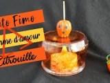 •|Tuto Fimo|• ? Pomme d'amour Citrouille Halloween ?