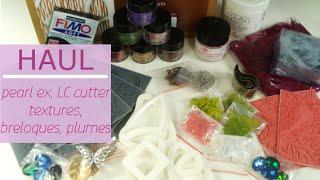 Haul Perles and Co – plaques textures, emporte pièces, Pearl ex, breloques, plumes…