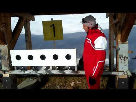 Cours d'initiation de biathlon aux Saisies