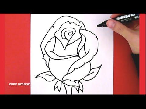 Comment Dessiner Une Rose Tutoriel Tutotube Fr Le Savoir C Est