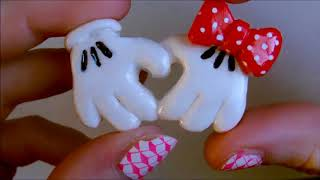 Tuto fimo : Comment faire des main de minnie et mickey en coeur