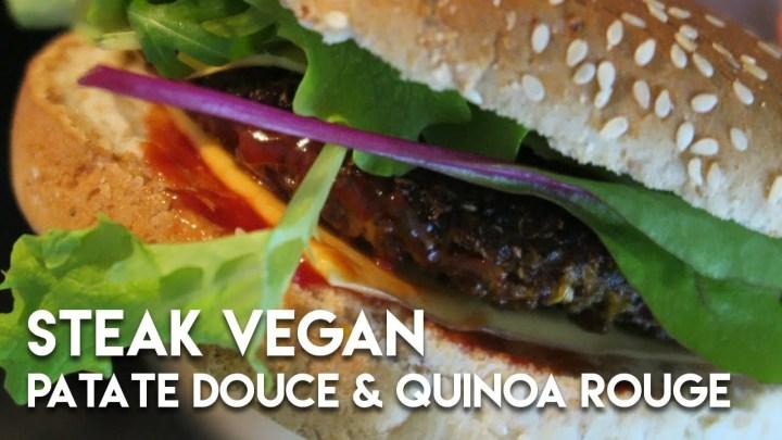 STEAKS VEGAN PATATE DOUCE & QUINOA ROUGE | Easy veggie, easy yummy #Sp