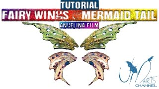 How to do fairy wings – with Angelina film fantasy – Tutorial diy
