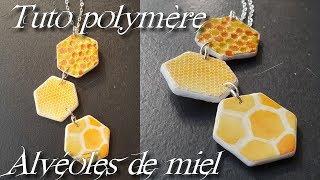 [♥ Tuto Polymère ♥]  ✿ Alvéoles de miel ✿