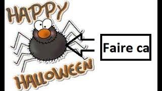 Créer une araignée pour Halloween  -TUTORIEL-
