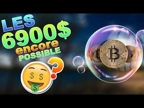 BITCOIN 6900$ ENCORE POSSIBLE !!!??? btc analyse technique crypto monnaie