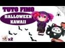 TUTO FIMO – HALLOWEEN KAWAII : Chat chauve souris et chibi punk !
