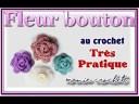 Comment faire une fleur bouton boutonnière amovible au crochet  tuto, pas à pas DIY