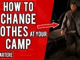 Red Dead Redemption 2 PS4 Tutorial – How To Change Outfits At Your Camp – How To Change Clothes