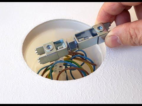 Comment fixer, installer un luminaire, un lustre sur plafond béton sans percer ?