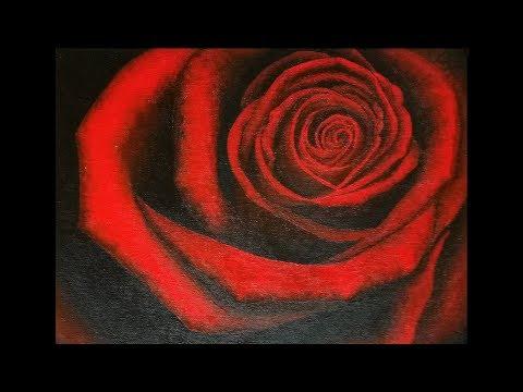 Rose Rouge – Peinture Acrylique