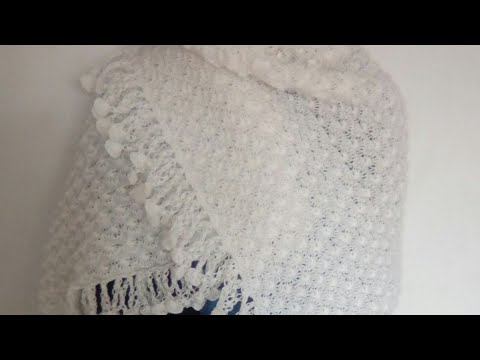 Tuto tricot : châle au tricot et au point ajouré»Les petits coquillages»