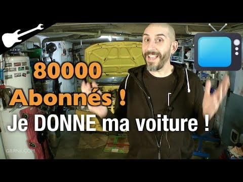 GBnews 80K abonnés 🎉 Je DONNE ma Voiture ! 🎁
