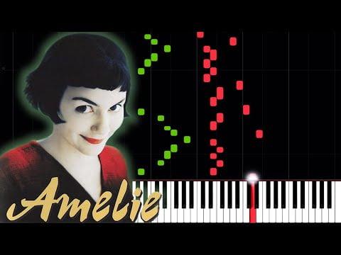 La valse d'Amélie – Yann Tiersen [Piano Tutorial] (Synthesia) // Piano Time