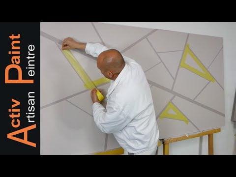 peindre un mur déco moderne, décoration peinture intérieur maison
