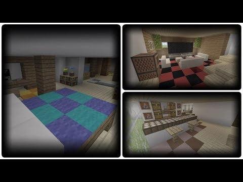 Minecraft TUTO : Decoration Interieur Maison Moderne 1