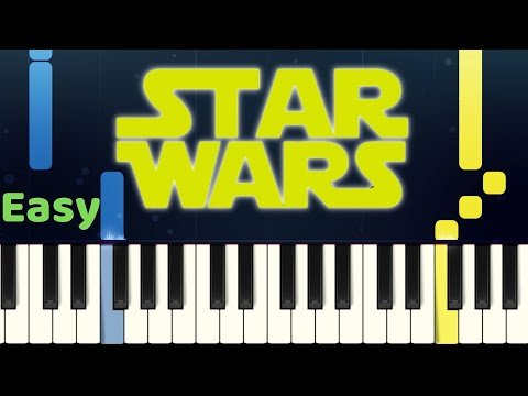 STAR WARS MAIN THEME – Easy Piano Tutorial with SHEET MUSIC