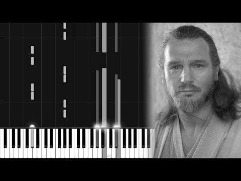 Qui Gon's Funeral – Star Wars [Piano Tutorial] (Synthesia) // Logan Dougherty