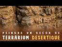 Comment peindre un decor de terrarium désertique en fausse pierre