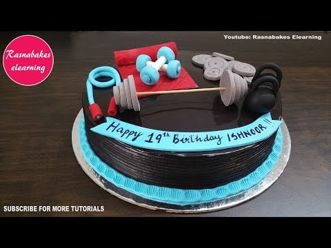 how to make gym fitness theme birthday cake design ideas decorating tutorial classes video