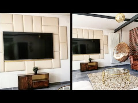 "Déco DIY : Aménager Mur TV ""luxe, design"""