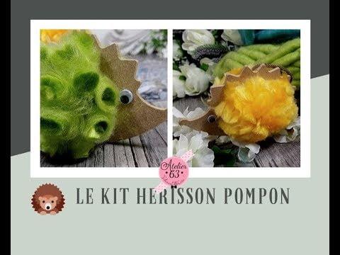 Création D.I.Y Tuto pompon Hérisson laine XL🦔 kit déco d'automne 🍁🍂 Loisirs Créatifs 👍©A63