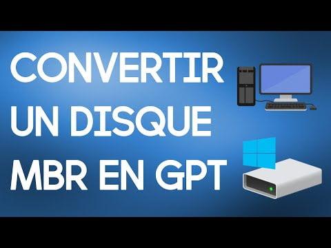 Convertir facilement un disque MBR en GPT | Installation de Windows