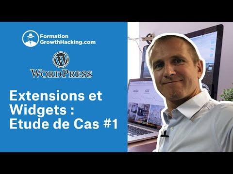 WordPress Tutorial FR [Extensions & Widgets : Étude de cas #1]