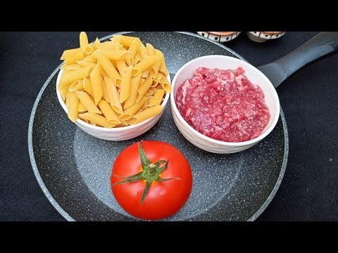 Recette la plus simple peut être préparée avec ces ingrédients /  Pasta 🍝 recipe – ASMR