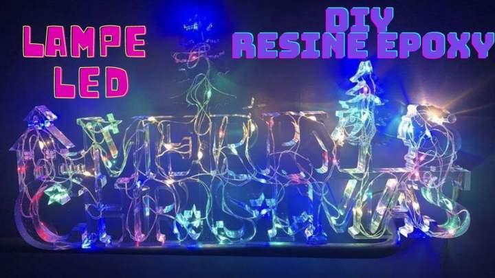 Merry Christmas EPOXY LAMPE DIY NOEL DECORATION DE NOEL RESINE PRO