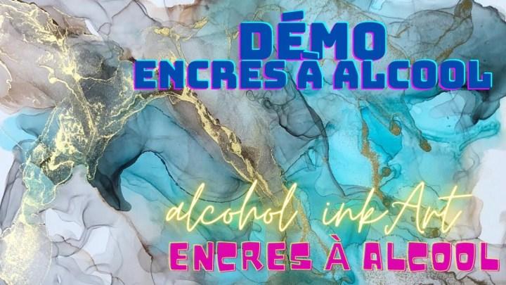 DEMO PEINTURE ENCRES A ALCOOL SUR PAPIER YUPO PAINTING ALCOHOL INK