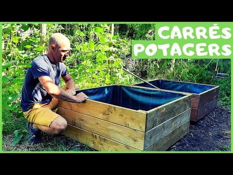 CARRÉS POTAGERS – Installation / Coût / Remplissage / Terre végétale