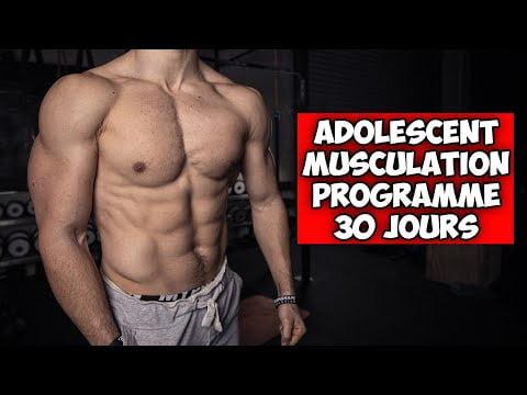 Adolescent programme musculation complet 30 jours ! (10min à la maison sans matériel)