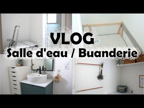 VLOG #5 : Travaux MAISON NEUVE : Petite Salle d'eau / Buanderie, PETIT BUDGET 💰 + TUTO ✂ + PDF 📋