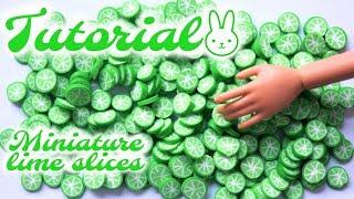 Tutoriel : tranches de citron vert miniatures pour nos dolls 🍋🍋🍋 ( canne fimo )