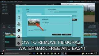 HOW TO REMOVE THE FILMORA WATERMARK FREE 2017